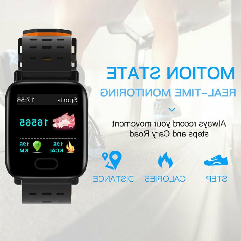 Bluetooth Watch Pressure Rate Fitness Sports