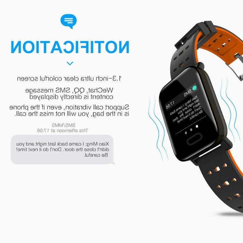 Bluetooth Blood Pressure Heart Rate Fitness Sports Wristband