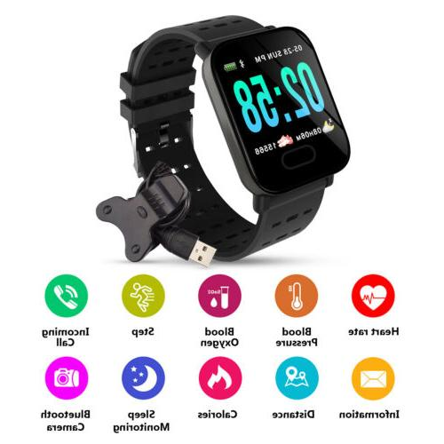 Bluetooth Smart Blood Pressure Rate Monitor Fitness Universal