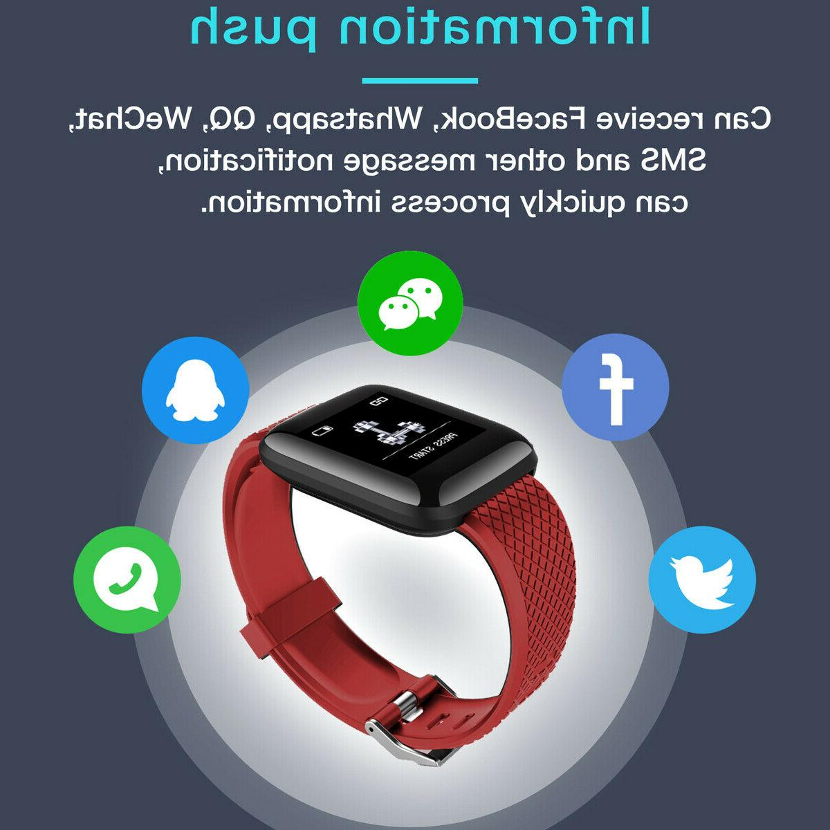 Bluetooth Smart Watch Heart Rate Blood Sport