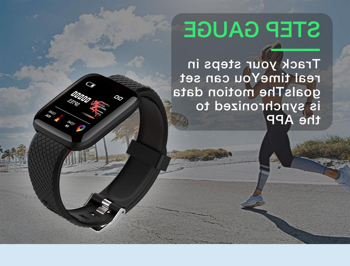 Bluetooth Smart Watch Heart Rate Sport Fitness Tracker US