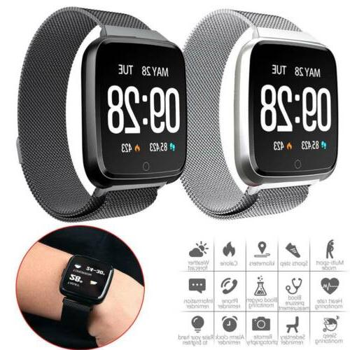 bluetooth smart watch heart rate monitor stainless