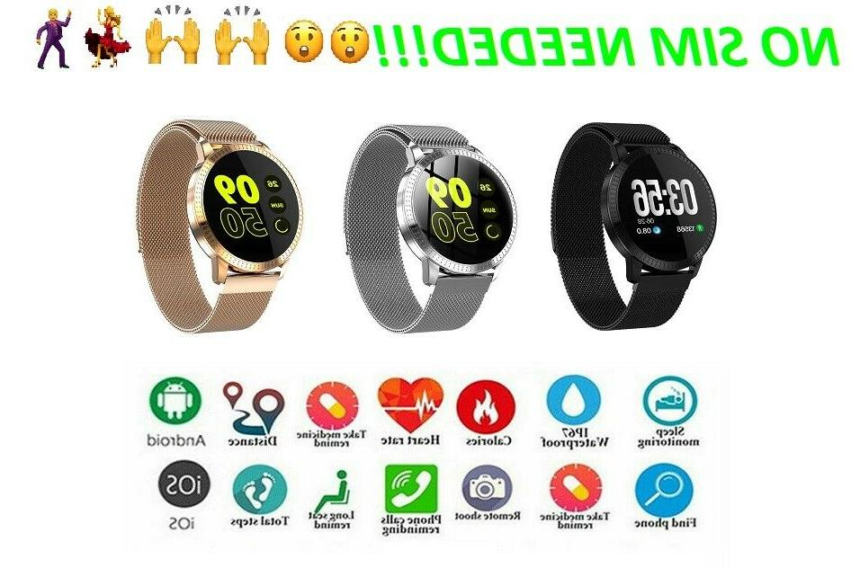 bluetooth smart watch with calorie step counter
