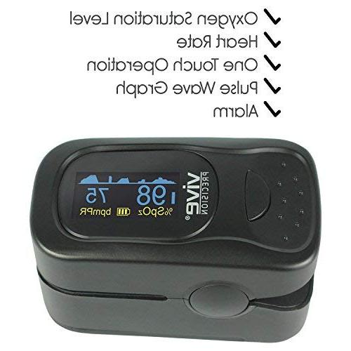 Vive Precision for Level Reading - Fingertip Ox and Pulse Rate - Measure Accurate Levels