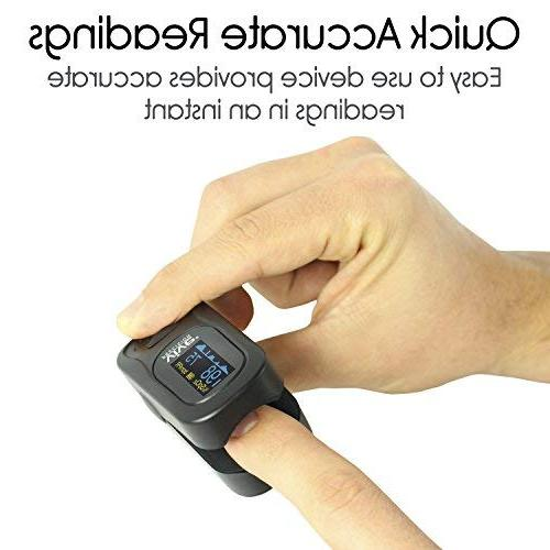Vive Oximeter - SpO2 Device for Blood Saturation Level Ox and Pulse Rate - Levels