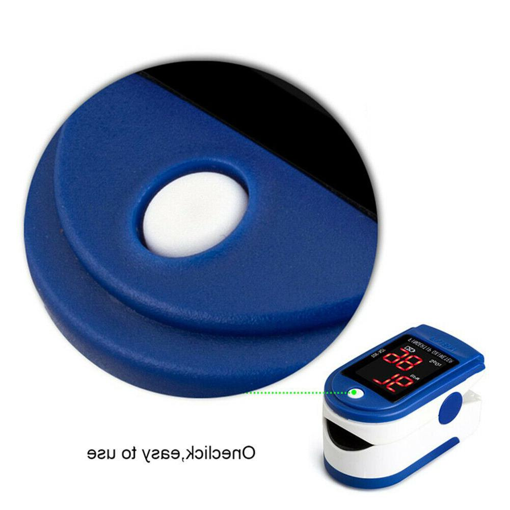 Finger Pulse Blood Saturation Heart Rate Monitor