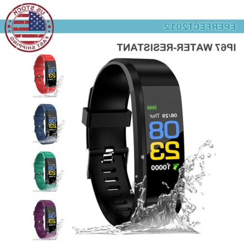 Fitness Activity Tracker Rate Monitor Pedometer