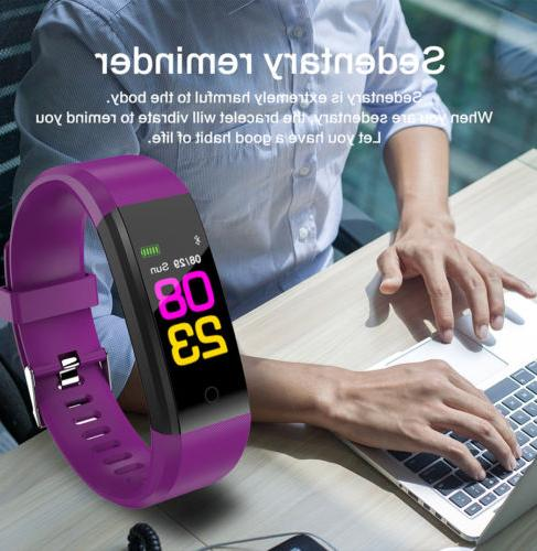 Fitness Tracker Heart Rate Pedometer Watch