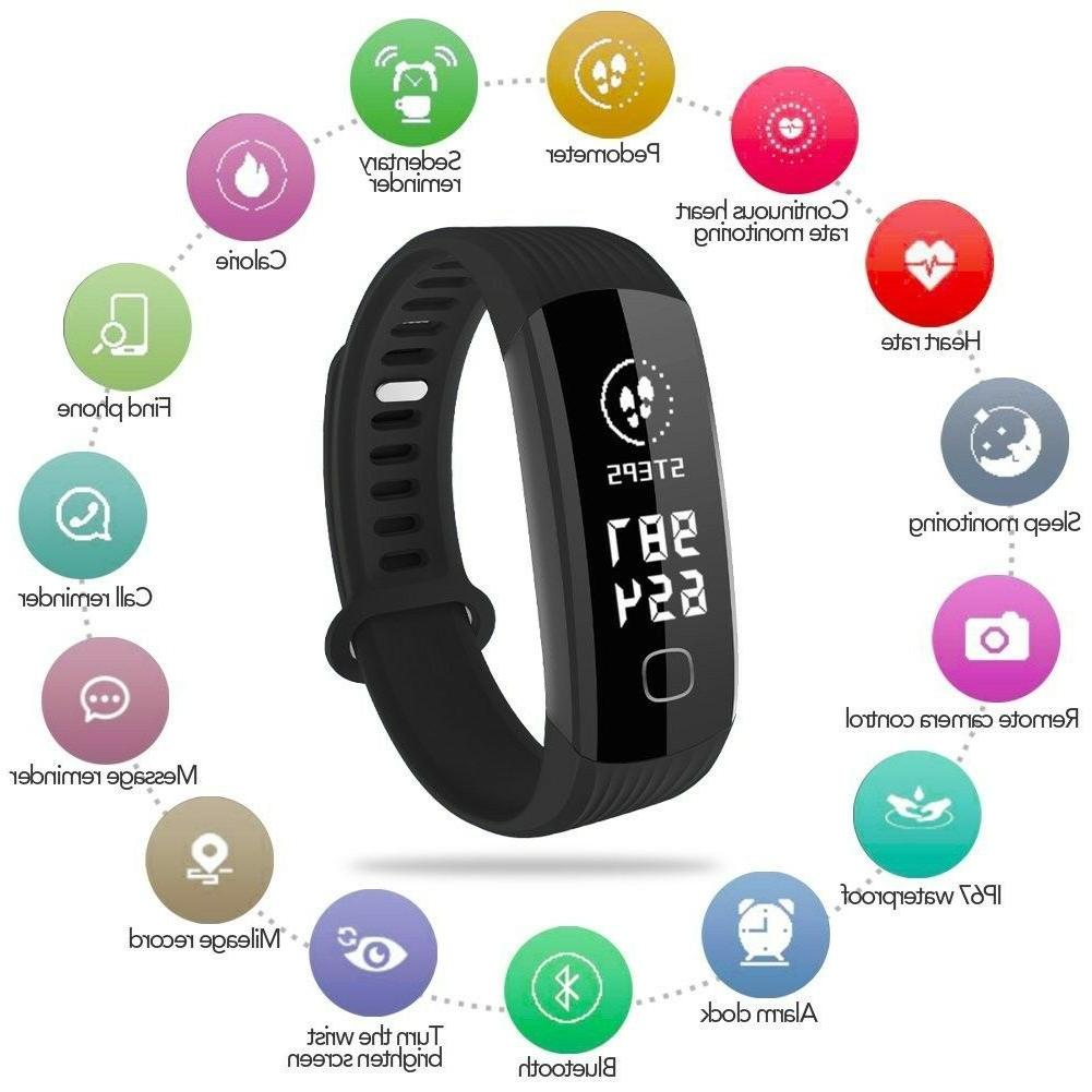 fitness activity tracker watch real time heart