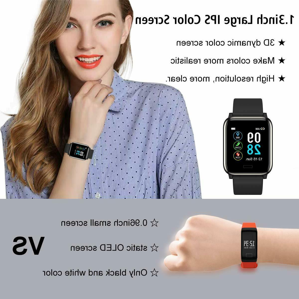 Fitness Tracker Rate Monitor Color Waterproof Activity Smart Watch