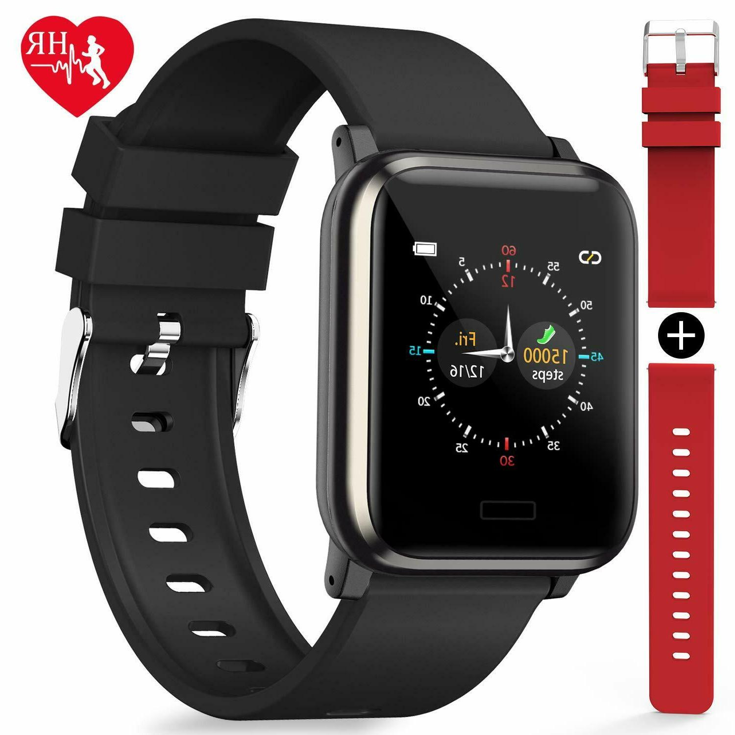 fitness tracker heart rate monitor color screen