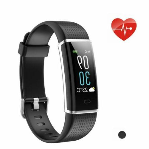 fitness tracker heart rate monitor pedometer step