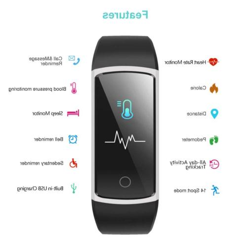 YAMAY with Blood Monitor Heart Rate Monitor Watch,IP68