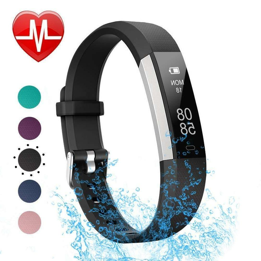 fitness tracker with heart rate monitor blue