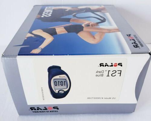 Polar FS1 Heart Monitor Fitness Transmitter Dark Blue