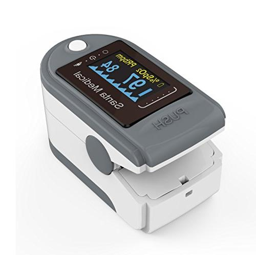 Santamedical Generation Fingertip Blood Oxygen Saturation with batteries and lanyard