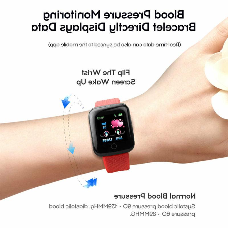 Bluetooth Smart Watch Rate Blood Fitness Tracker US