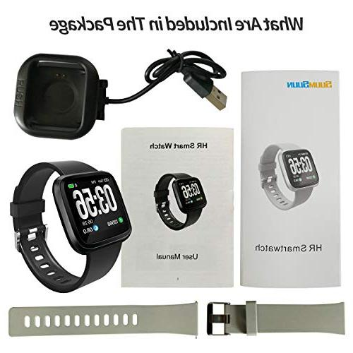 Heart Rate Watch Bluetooth to Android. Heart Rate, Blood Activity, Waterproof Good Women