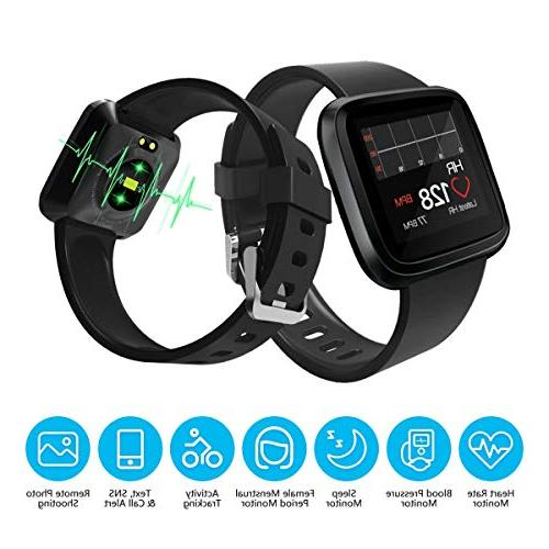 Heart Monitor Bluetooth to iPhone, Android. Rate, Blood Activity, Waterproof Good for Women