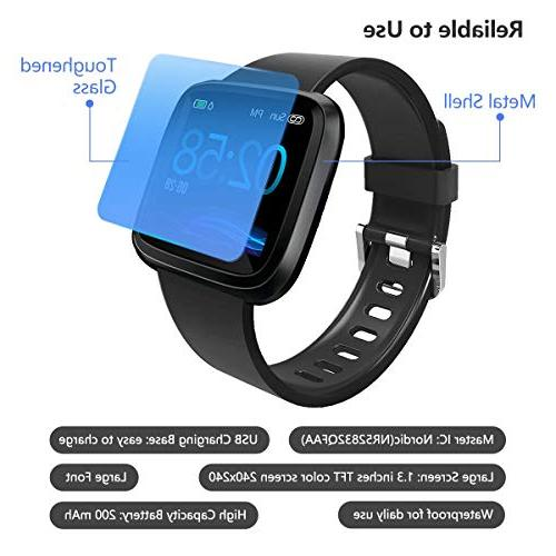 Heart Rate Bluetooth Android. Blood Pressure, Sleep & Activity, Calorie Pedometer. Waterproof Women
