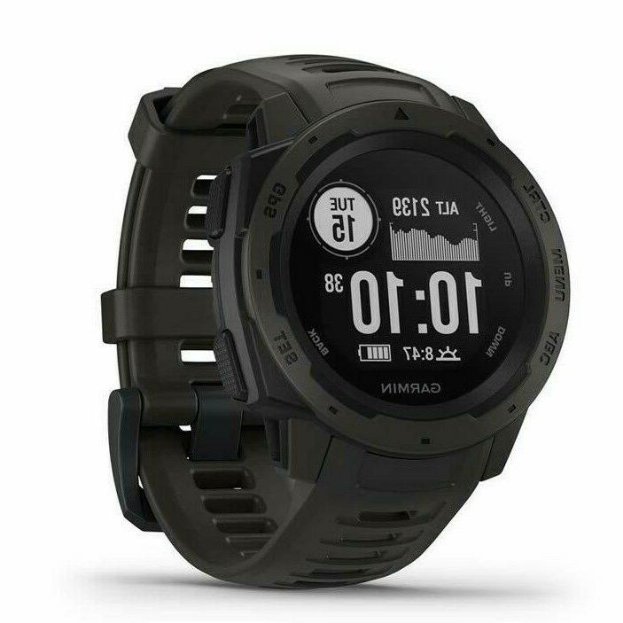 instinct gps watch with heart rate monitor