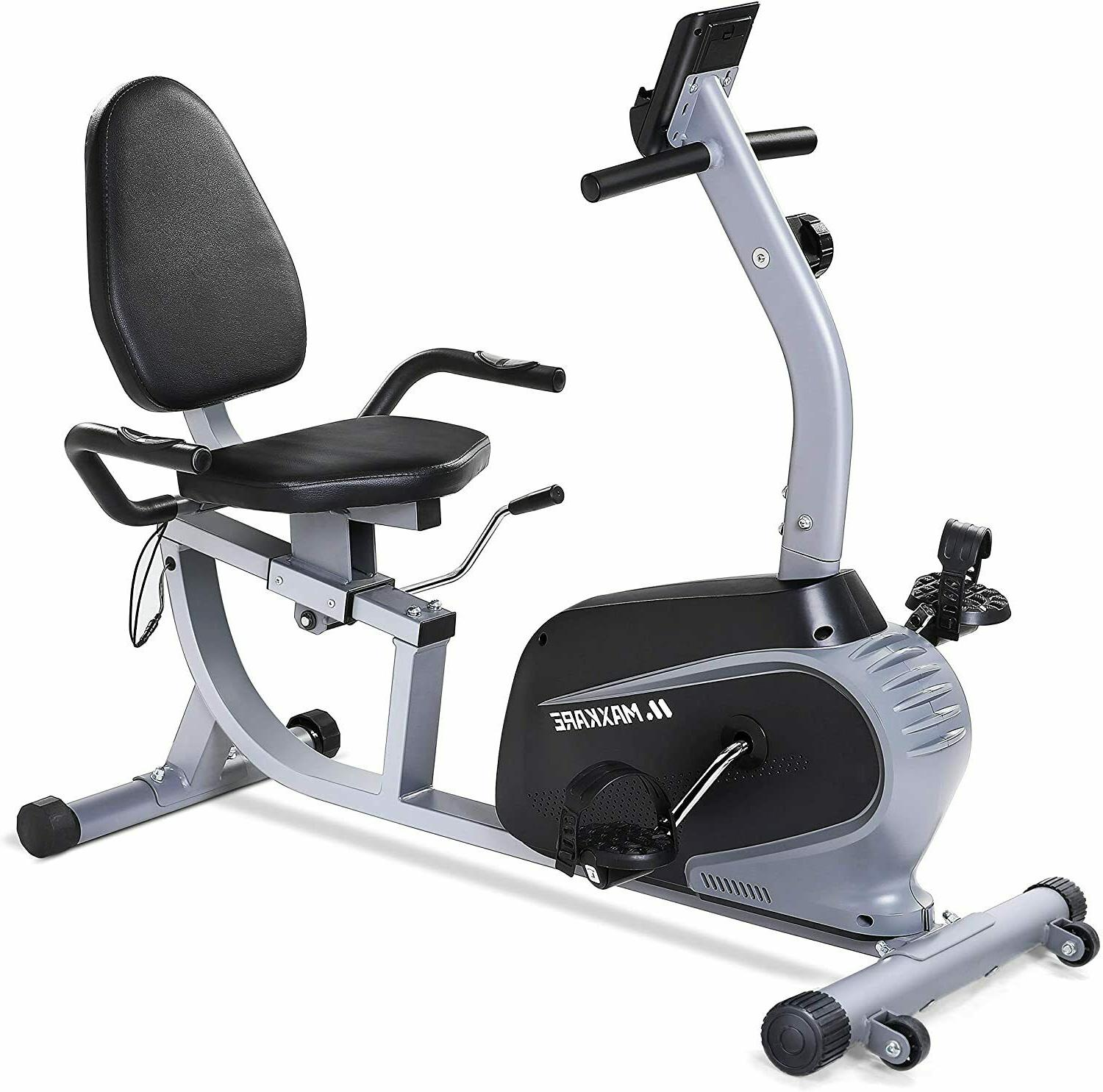 magnetic recumbent exercise bike indoor cycling stationary