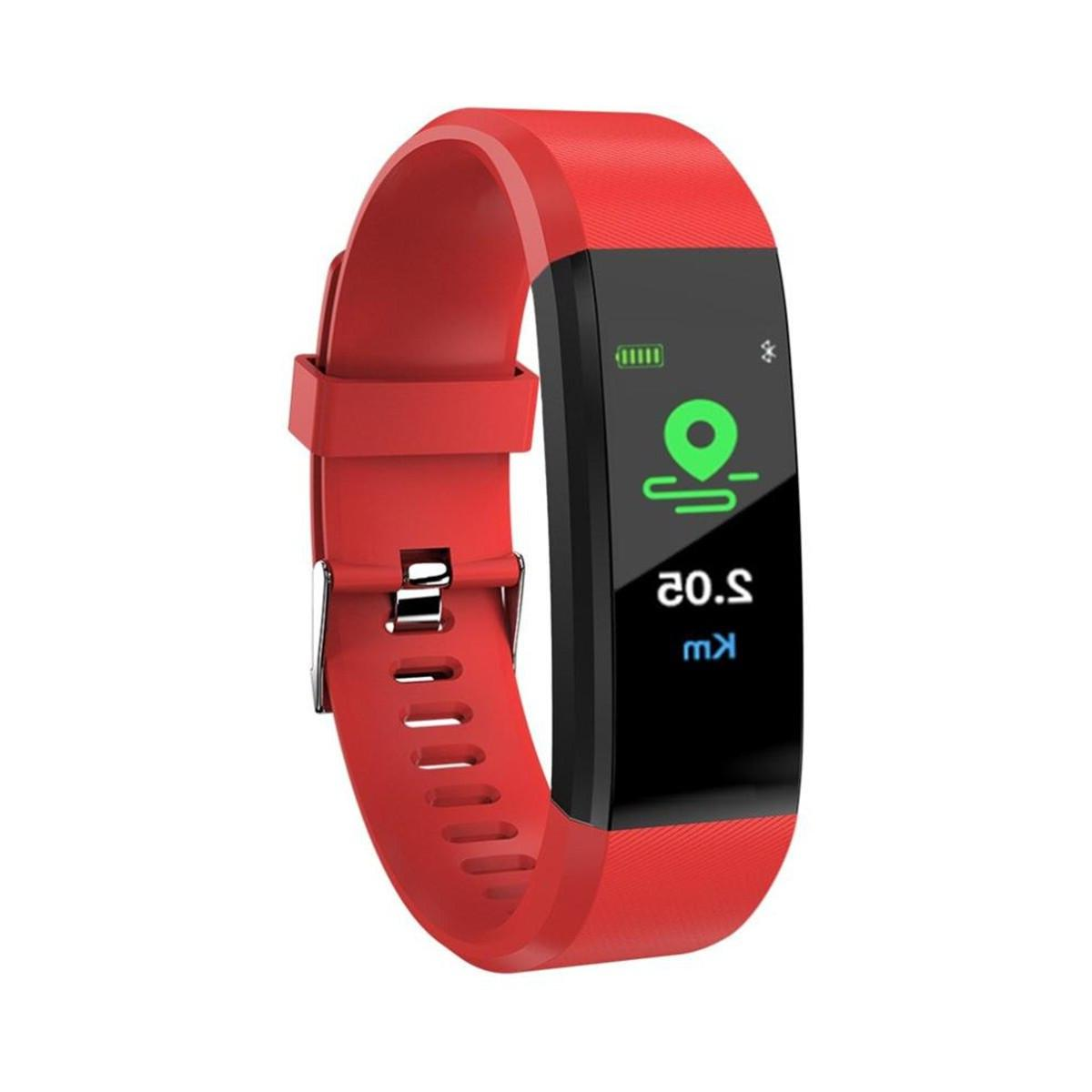 New Silicone Smart Wristband Blood Pressure Tracker Life Waterproof For