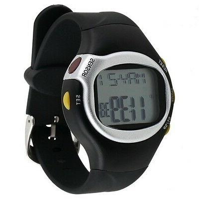 Pulse Heart Monitor Wrist Watch Counter Sports Fitness