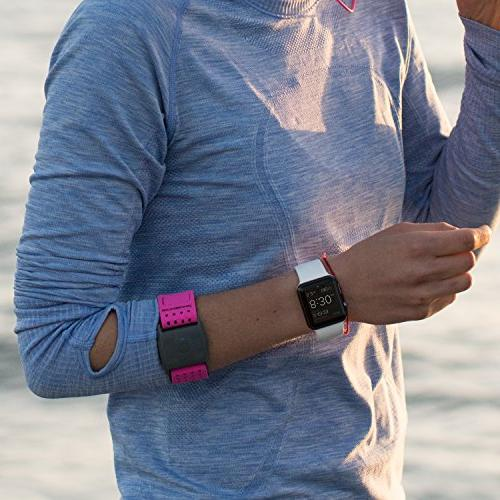 Scosche Heart Rate Monitor - Blue - Heart Rate Armband with Band ANT+ and