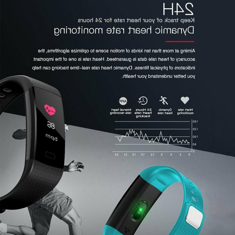 Smart Bracelet Watch Rate+Blood Pressure Tracker Women
