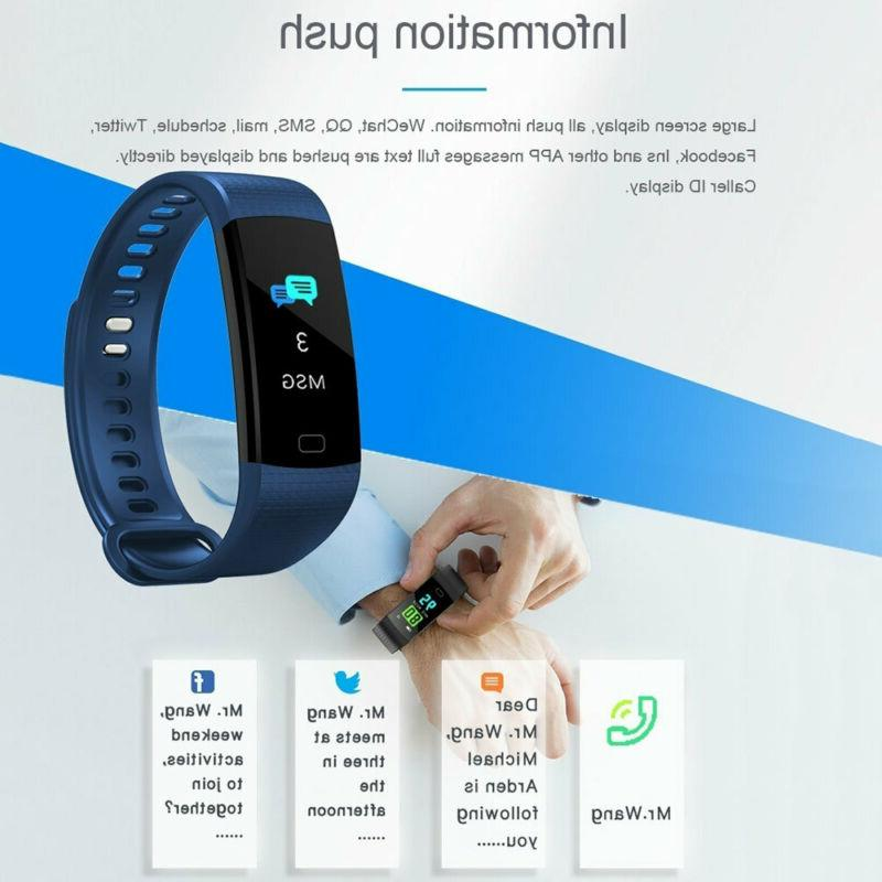 Smart Bracelet Watch Heart Rate+Blood Tracker Man