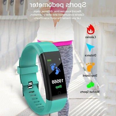 US Smart Watch Heart Rate Monitor Trackers Step Count Wristband