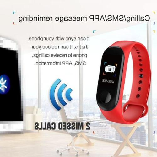Smart Bracelet Wristband Heart Monitor Pressure Fitness Tracker