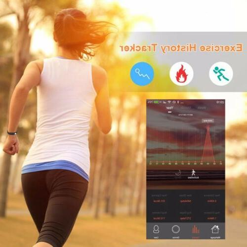 Smart Bracelet Wristband Heart Rate Monitor Pressure Fitness