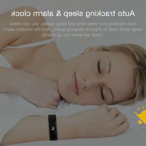 Smart Bracelet Wristband Heart Monitor Blood Pressure Fitness
