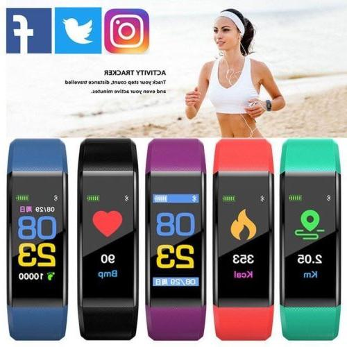 smart bracelet wristband watch heart rate monitor