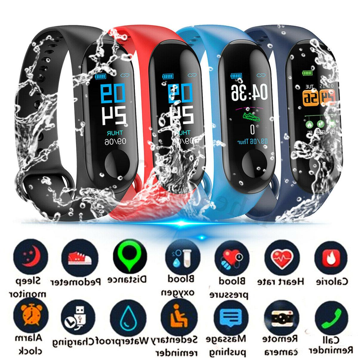 US Smart Watch Blood Pressure Heart Rate Monitor Bracelet Wr