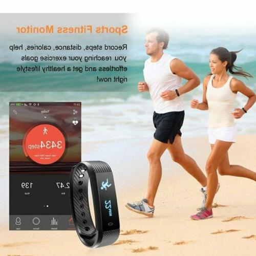 Smart Watch Bracelet Sport Fitness Tracker Rate Monitor Wristband