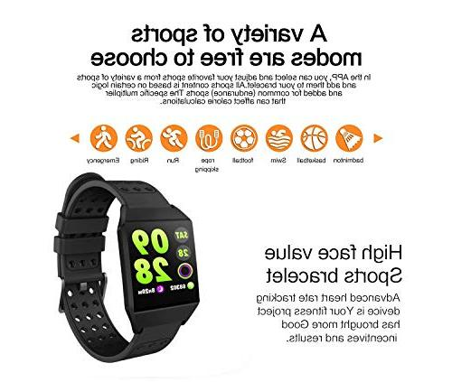 Smart with All-Day Heart Rate Smartwatch Pedometer Battery Life,Fitness Tracker 8 Sports Mode,Step Counter for Kids