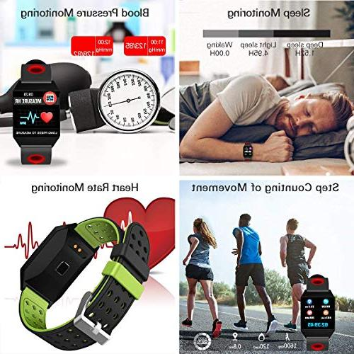 Smart with Heart Rate Smartwatch Long Battery Life,Fitness 8 Sports Counter Men Kids
