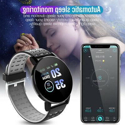 Sport Smart Watch Bluetooth Heart Rate Pressure Monitor Fitness Tracker