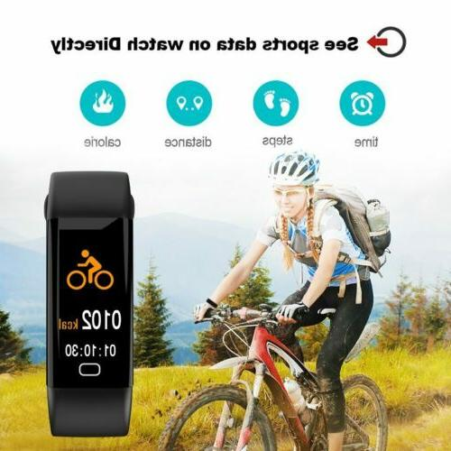 Sport Fitness Activity Tracker Smart Band w/ Rate Monitor