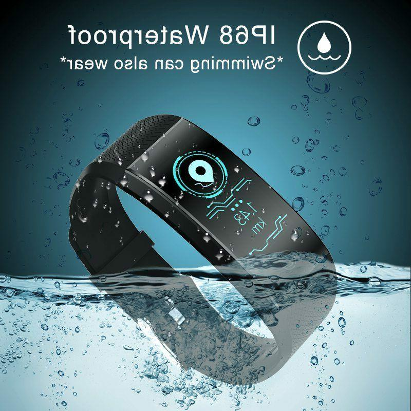 sports waterproof fitness activity tracker heart rate