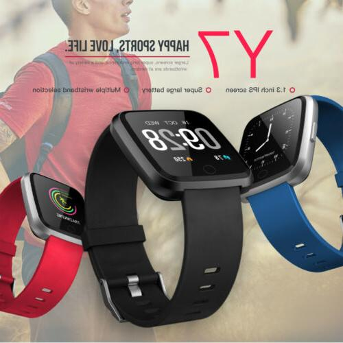y7 smart watch heart rate monitor pedometer