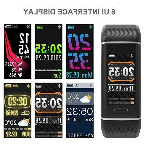 YOUNGDO Waterproof Smart Fitness Tracker Heart Rate Monitor