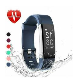 LETSCOM Fitness Tracker HR, watch with heart rate monitor,