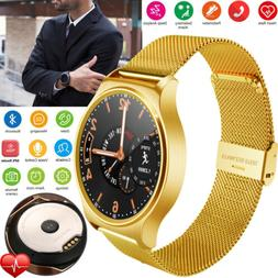 Luxury Gold Smart Watch Bluetooth Phone Heart Rate Compatibl