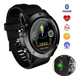 Man Bluetooth Smart Watch Heart Rate Monitor Phone Mate Wris