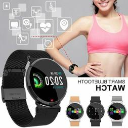 Men Women Sports Bluetooth Smart Watch Heart Rate Monitor Fi