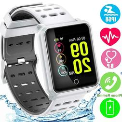NEW BLUETOOTH SMART WATCH WITH HEART RATE BLOOD PRESSURE MON